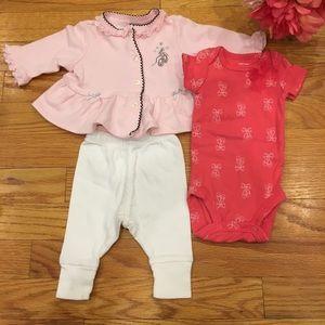 Newborn Baby Girl Ballerina Set